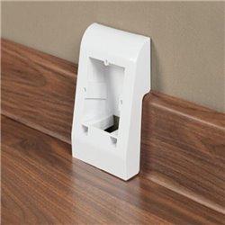 Multibox Arbiton INDO - ochranná inštalačná kryt elektrickej zásuvky biely k PVC lište