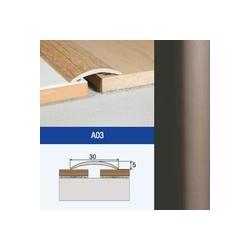 Profil AL prechodový samolepiaci oblý 30 mm, elox Bronz, dl. 2,7 m, A03 EFFECTOR
